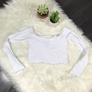 Free People Tops - Free People Long Sleeve Cropped Cami XS/S